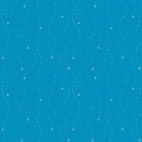 Snowflake Trails (blue)