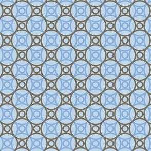 Circle net, sky blue