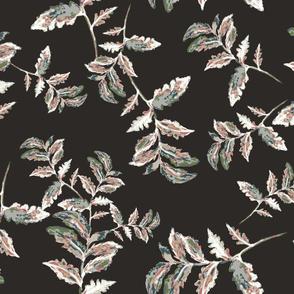 Brown watercolor ferns
