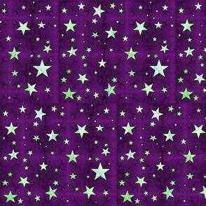 Minty Stars on Blue