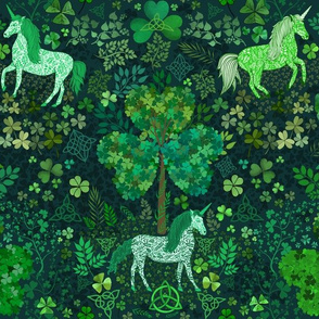 Irish Unicorns in the Celtic Woods