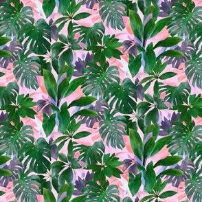Bright Tropical Emerald Jungle - tiny print