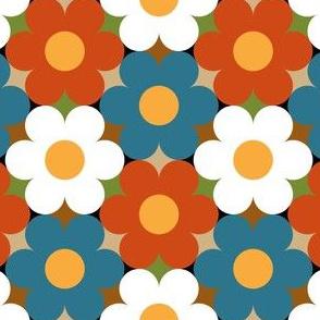 09474131 : circle flowers : trendy1960s