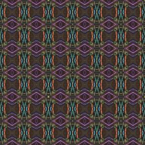 peacock tail feather multicolor geometric sticks kaleidoscope small