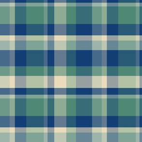 Plaid-Blue, Green and Yellow