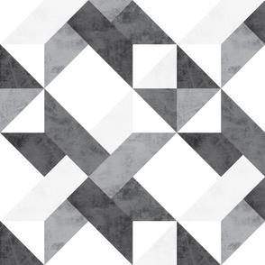 Quilt Panel Gray Grey Star