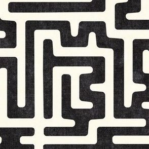 maze - mud cloth - tribal in inkwell -  LAD19