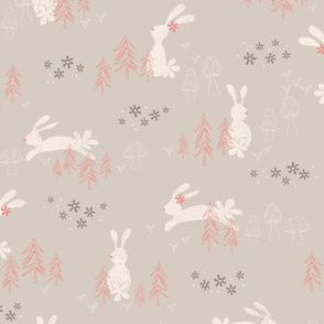 Woodland Whimsey - Light Gray