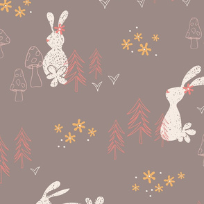 Woodland Whimsey - Dark Gray