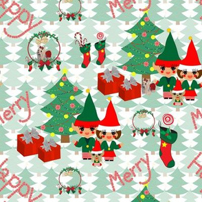 Mr & Mrs Elf's Holiday