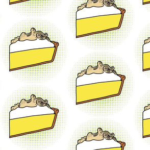 lemon meringue pie - pop art