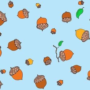 falling acorns large