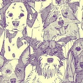 dogs aplenty purple cream