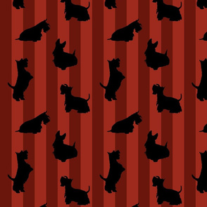 Black Scotties and Red Stripes