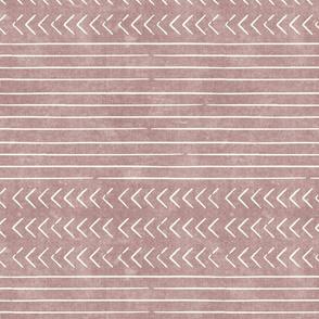 arrow stripes - cream on mauve - mud cloth modern trendy farmhouse - LAD19