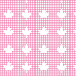 Patchwork Template 4_pink plaid leaft
