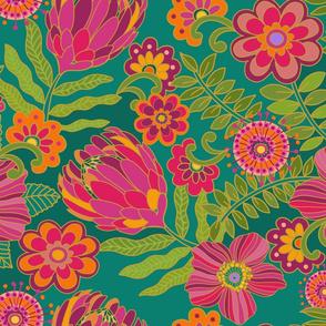 1970 Floral Mod