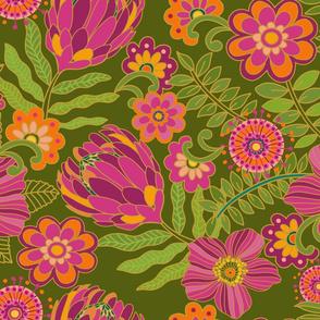 1970 Floral sage