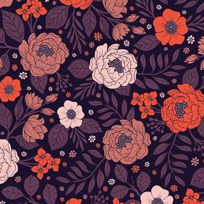 Purple, Red, Peach & Coral Pattern