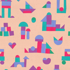 Color Blocks - peach