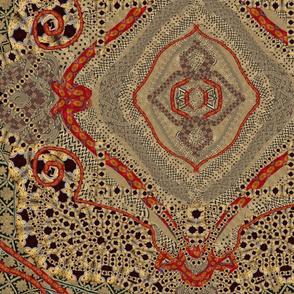 African Red Kaleidoscope 24x24