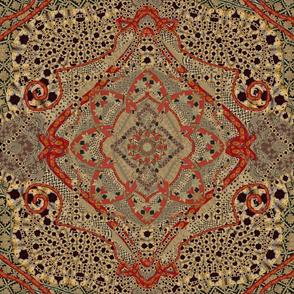 Asian African Kaleidoscope 18x18