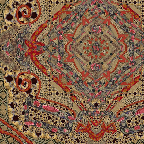 Asian African Kaleidoscope 24x24