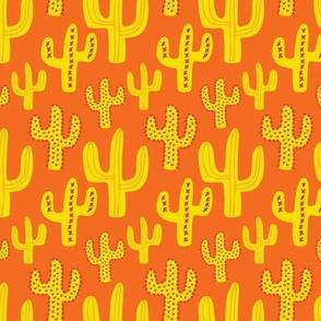 Large Orange Cactus