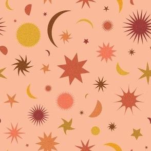 Celestial Sky in Peach