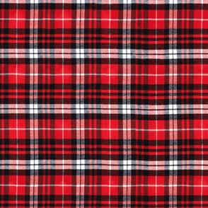 Lumberjack Plaid Red, Black and White