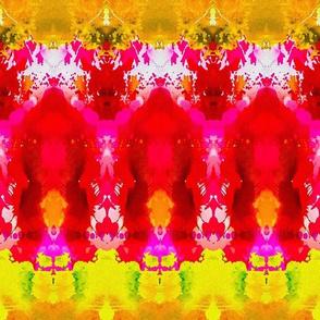 Vibrant Watercolor Ikat Larger