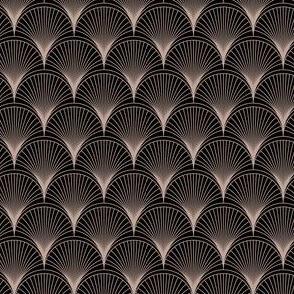 Art Deco Curves Brown