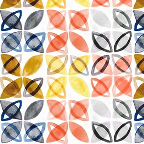 Watercolor Pattern - Trendy colors (Small Version)
