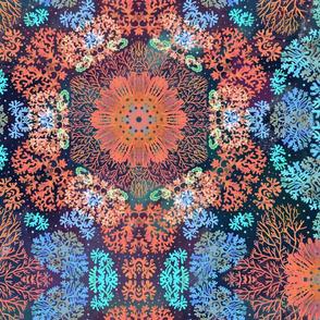 Kaleidoscope underwater coral seamless