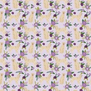 TINY - golden retriever pet quilt c cheater collection floral dog breed fabric