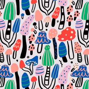 Small bold mushroom pattern