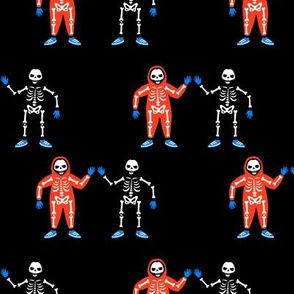 Skeletons friends at a party