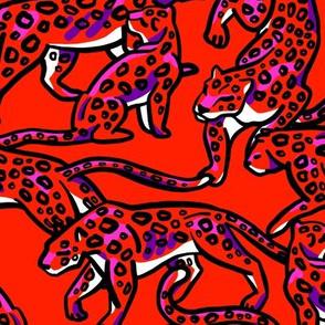 Animalistic leopard print