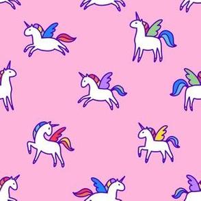 Magic unicorn and pegasus
