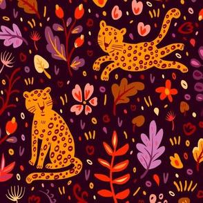 Cute leopards in the jungle