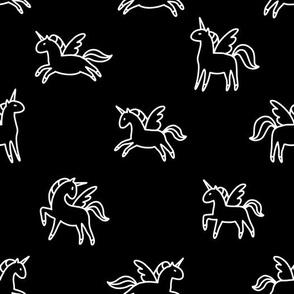 Night unicorns and pegasuses