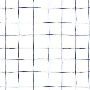 Casual Grid-navy on white
