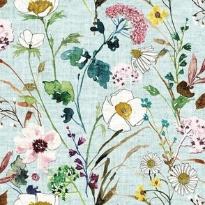 Verdure Wildflowers (minty blue) MED