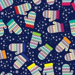 Colorful Winter Mittens by ArtfulFreddy