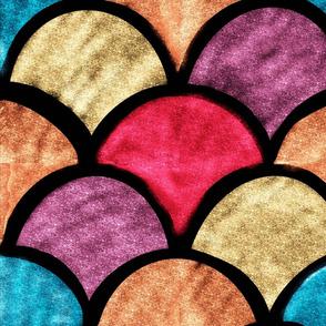 70s Jewel Glitter Sunrise  Medium