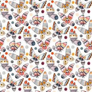 Pastel Watercolor Butterflies (Small Version)