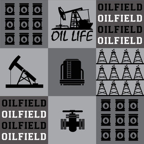 Oilfield patchwork 6  inch squares