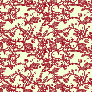 lace in boho style (cream red)