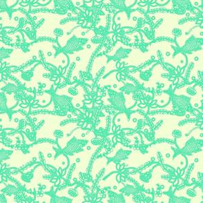 lace in boho style (cream emerald)