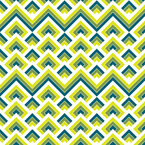 Geometric blue_green and yellow_093